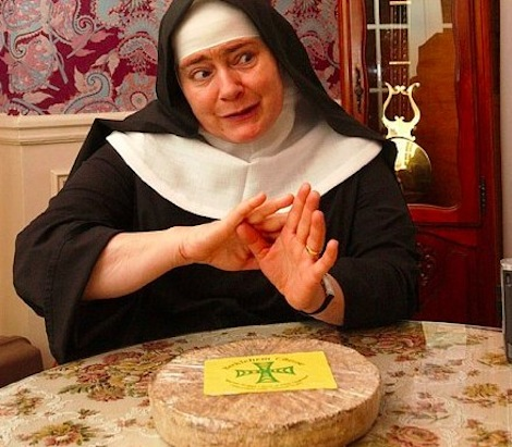 The Cheese Nun, aka Sister Noella Marcellino of the Abbey of Regina Laudis