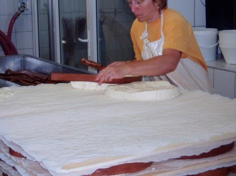 Productie van Vacherin bij Michelin (Jura)