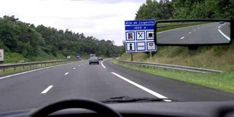 Aire de repos sur autoroute