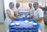 Het basisteam van de kaasmakerij