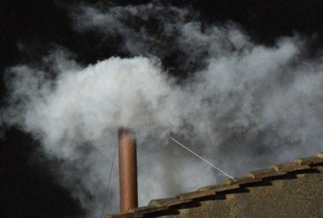 Er is witte rook