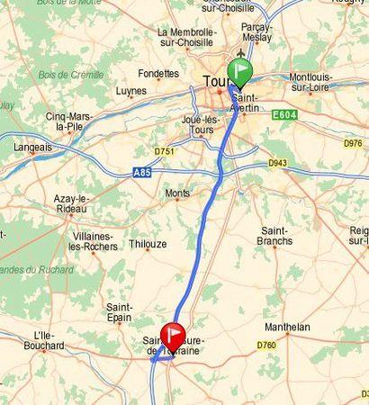 Waar situeert zich Sainte-Maure de Touraine
